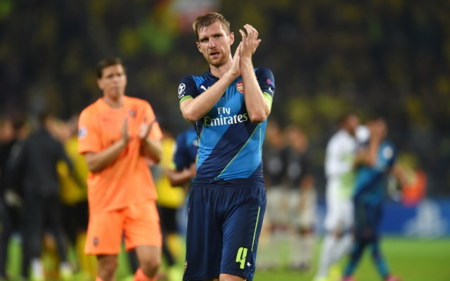 Per Mertesacker Arsenal Dortmund