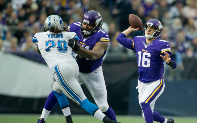 (Image) Minnesota Vikings offensive tackle flies on tackle attempt