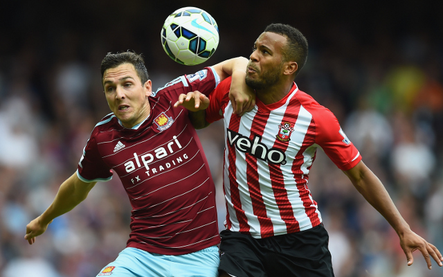 Stewart Downing West Ham Ryan Bertrand Southampton