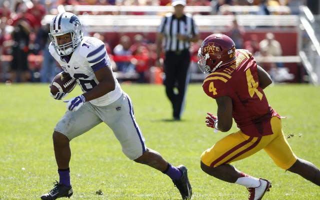 (Video) Kansas State WR Tyler Lockett deflects end-zone pass causing interception