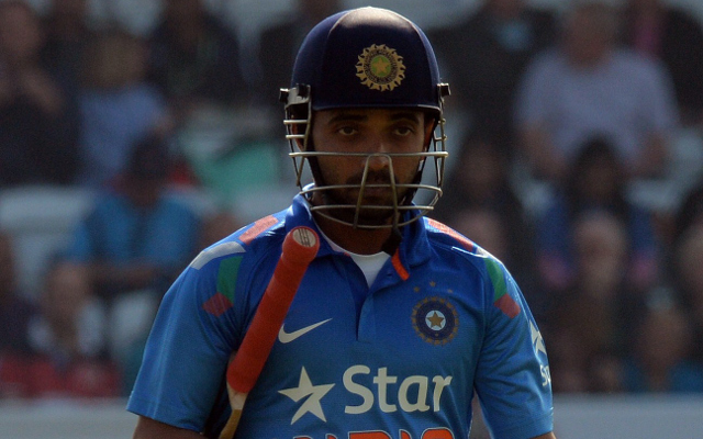 (Video) India v West Indies – Rahane should have done better as he hits an easy catch to Sammy