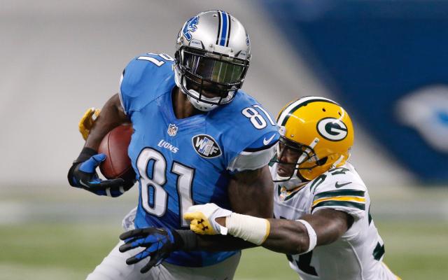 INJURY: Detroit Lions WR Calvin Johnson leaves game with hurt leg