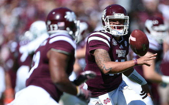 (Video) HEISMAN ALERT: Mississippi State QB Dak Prescott throws 51-yard touchdown pass