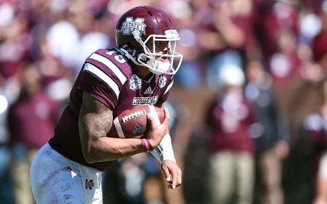 (Video) Mississippi State WR De'Runnya Wilson de'runs through defenders for TD