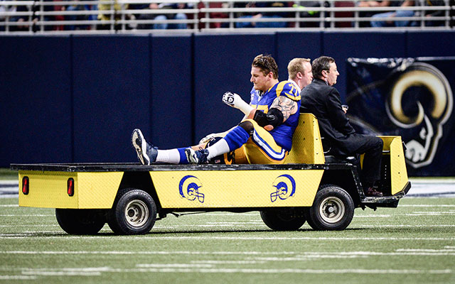 INJURY: St. Louis Rams LT Long has torn ACL, out for year