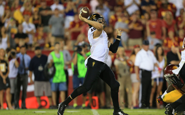 UPSET: Arizona State stuns USC, 38-34, on last-second Hail Mary touchdown