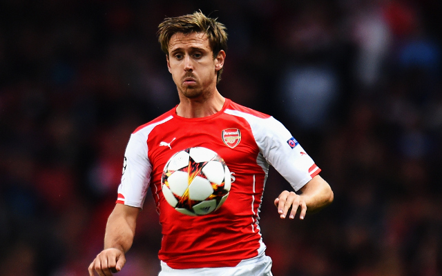 Arsenal to reject any January bids for left back Nacho Monreal
