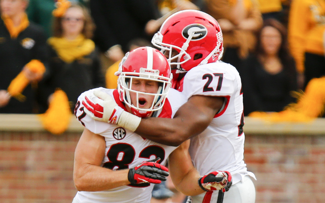 (Video) Georgia RB Nick Chubb does his best Todd Gurley impression
