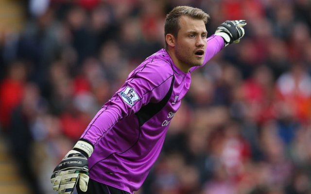 (Video) What is he doing?! Simon Mignolet goes walkabout during Liverpool defeat to Man United