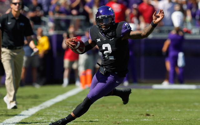 (Video) Trick play! TCU QB Boykin catches a TD pass from his WR