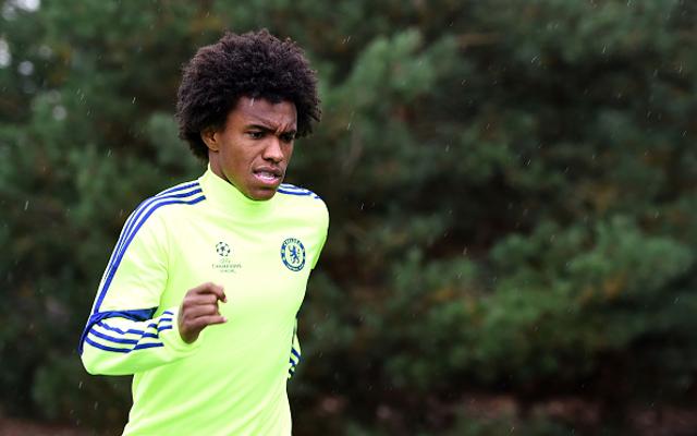 Willian Chelsea training
