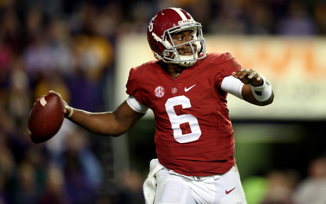 (Video) Alabama QB Blake Sims dodges Mississippi State defenders for 3rd-down conversion