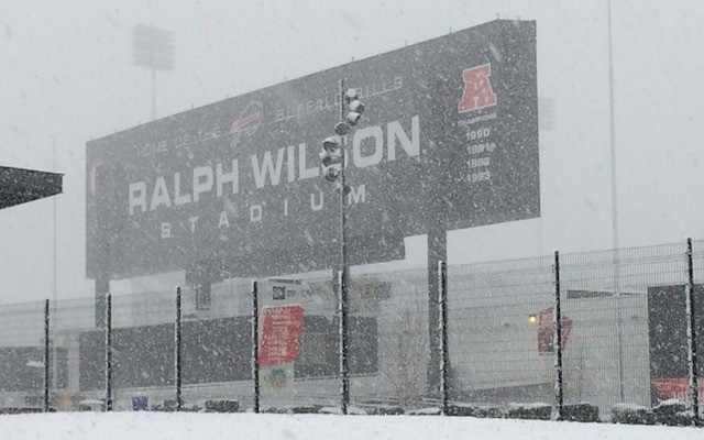 (Image) Buffalo Bills players need snowmobiles to reach flights to next game