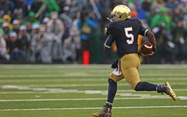 QB Everett Golson to transfer from Notre Dame for his final college season