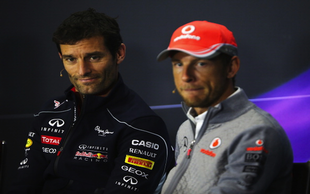 (Image) Former Red Bull driver Mark Webber tells McLaren racer Jenson Button to turn his back on F1