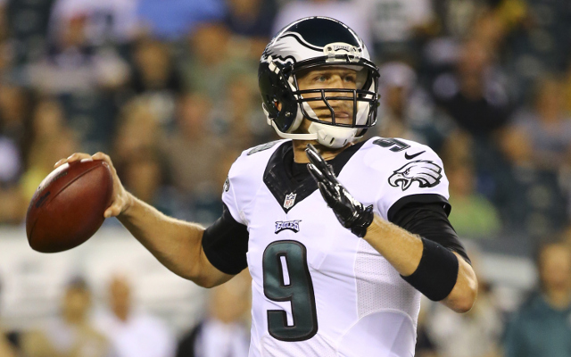 INJURY: Philadelphia Eagles QB Nick Foles goes down with hurt shoulder