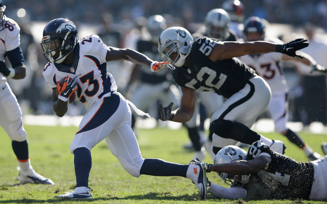 INJURY: Denver Broncos RB Ronnie Hillman out at least 2 weeks with foot injury