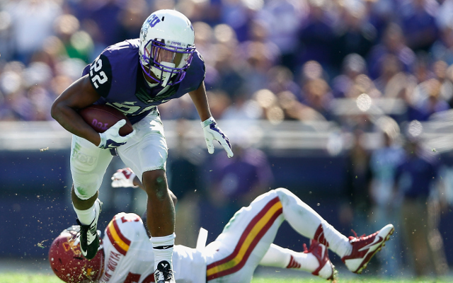 (Video) TCU RB Aaron Green scores 54-yard touchdown while juking defender