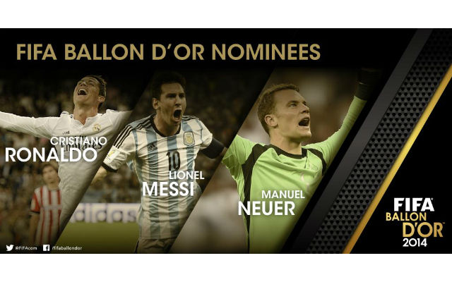 Messi, Ronaldo and Neuer make final three of Ballon d'Or shortlist