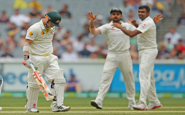 (Video) Australia v India: BIG WICKET! David Warner trapped LBW by India spinner Ravi Ashwin