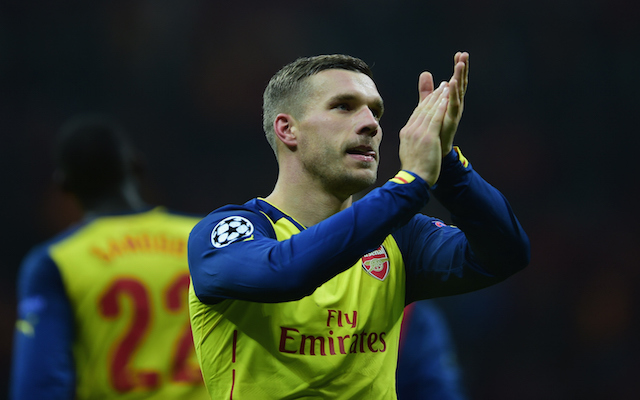 Arsenal Striker Lukas Podolski Travelling To Milan To Finalise Inter Loan Deal