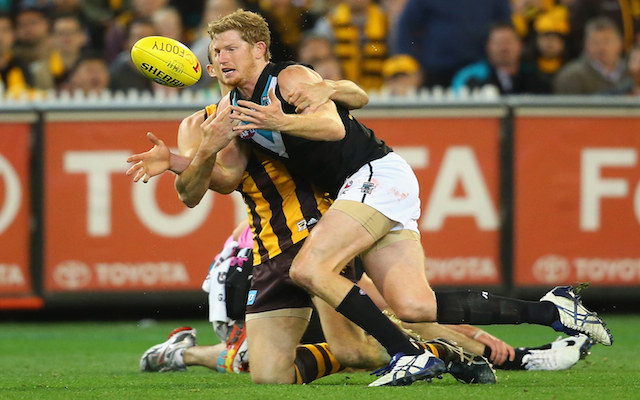 Port Adelaide lock-in key ruckman on long-term deal