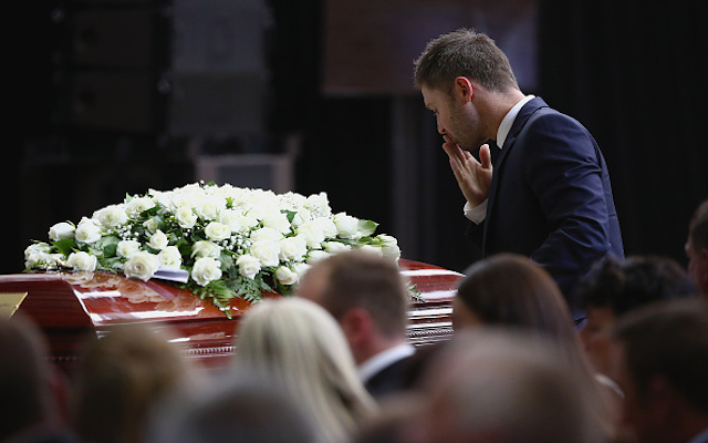 Phillip Hughes funeral: Michael Clarke delivers beautiful eulogy to his 'little brother'