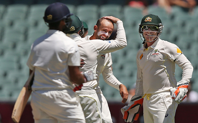 (Video) Australia v India: WICKET! Nathan Lyon takes superb one-handed catch off his own delivery