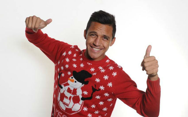 (Images) Arsenal stars pose in some daft Christmas jumpers: Sanchez, Koscienly and co get silly for festive season