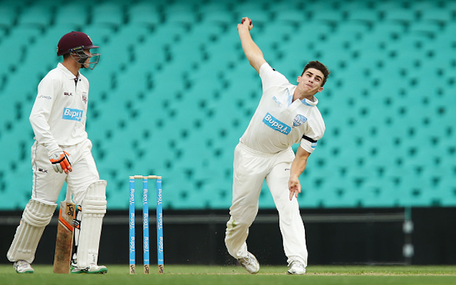 (Images) Sean Abbott returns to cricket in Sheffield Shield for New South Wales against Queensland