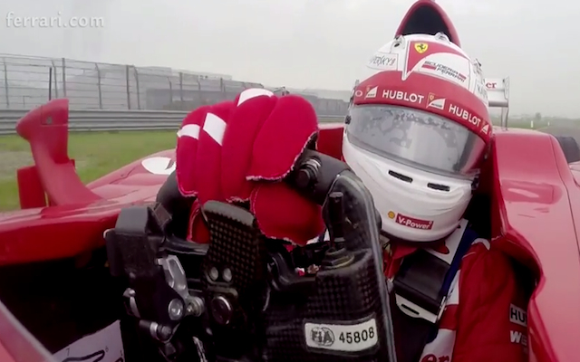 (Video) F1: Ride onboard with Sebastian Vettel as he makes his Ferrari debut