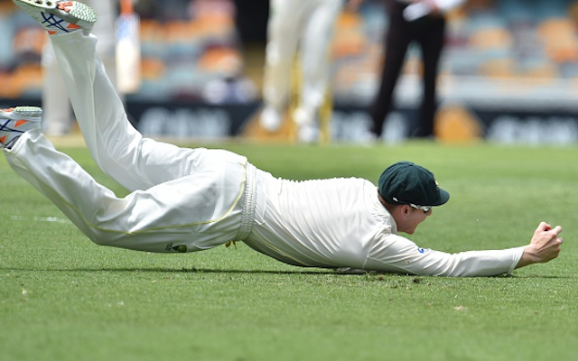 (Video) Australia v India: WHAT A CATCH! Steve Smith takes a one-handed beauty to dismiss Rohit Sharma