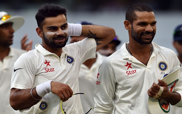 Australia v India: MS Dhoni laughs off speculation of dressing room bust-up between Virat Kohli and Shikhar Dhawan