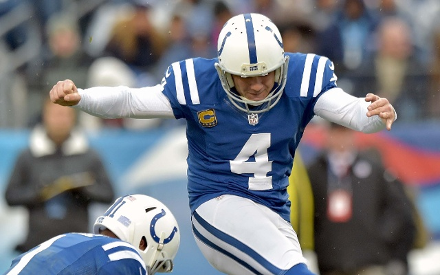 (Image) 42-year-old Indianapolis PK Vinatieri drug-tested after 53-yard FG