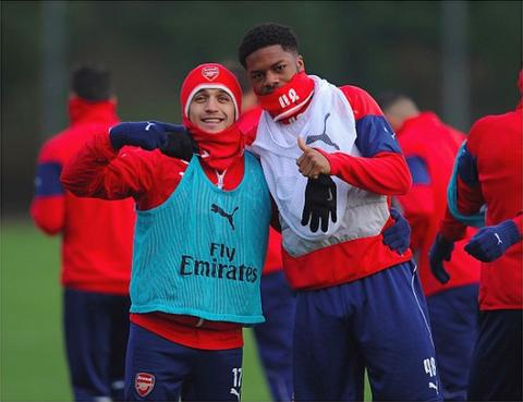 Alexis Sanchez Chupa Akpom Arsenal