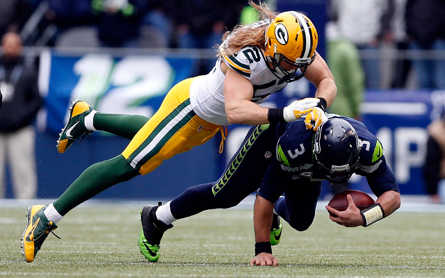 NFL fines: Green Bay Packers LB Clay Matthews fined $22,050 for illegal hit on Seahawks QB Russell Wilson