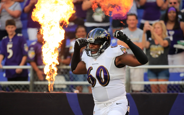 Baltimore Ravens LT Eugene Monroe active for Saturday's game