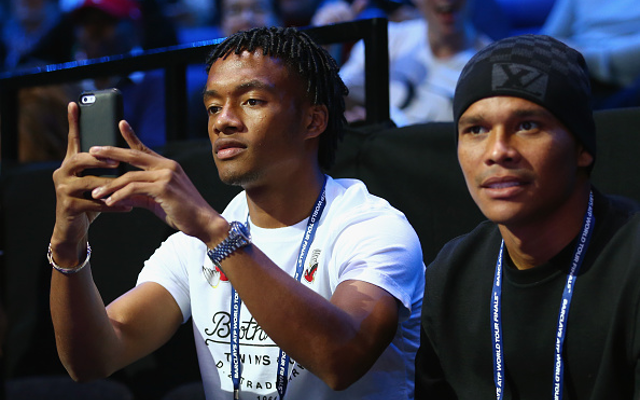 (Image) Chelsea's imminent new signing Juan Cuadrado in the stands for Man City game