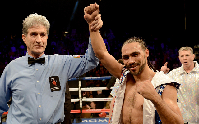 (Video) Keith Thurman vs Robert Guerrero: Heated exchange at weigh-in!