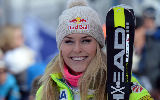 Lindsey Vonn wins record 63rd title as boyfriend Tiger Woods pays her a surprise visit