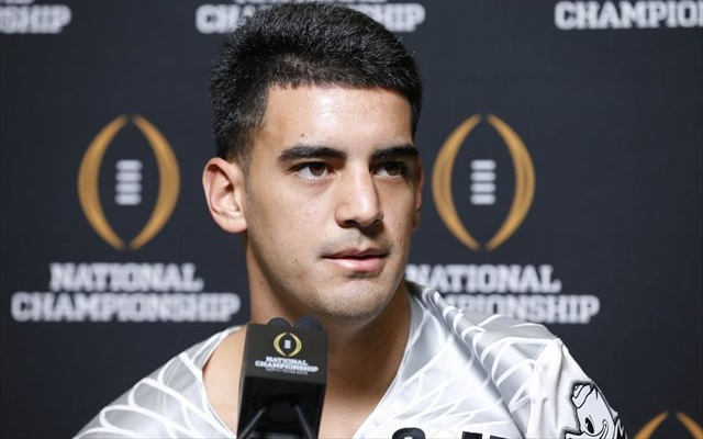NFL DRAFT: Oregon Ducks QB Marcus Mariota not thinking about NFL after loss