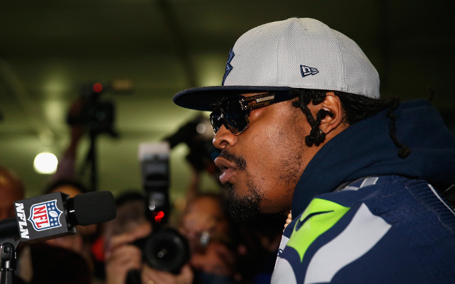 Marshawn Lynch applies for trademark on 'I'm just here…' catchphrase