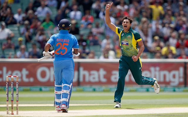 (Video) Australia v India: BIG WICKET! In-form Mitchell Starc claims the scalp of India opener Shikhar Dhawan