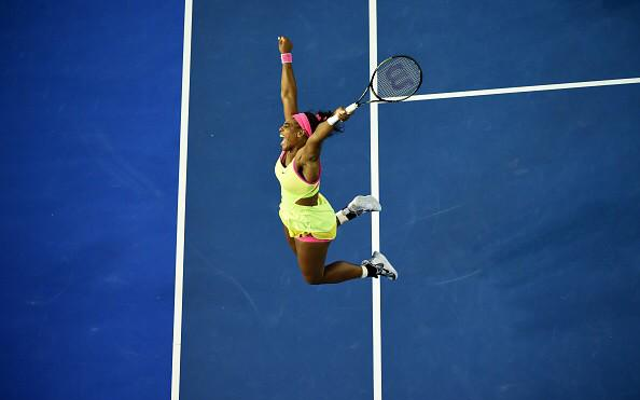 (Video) WTF!? Check out Serena Williams' RIDICULOUS Aussie Open celebration!