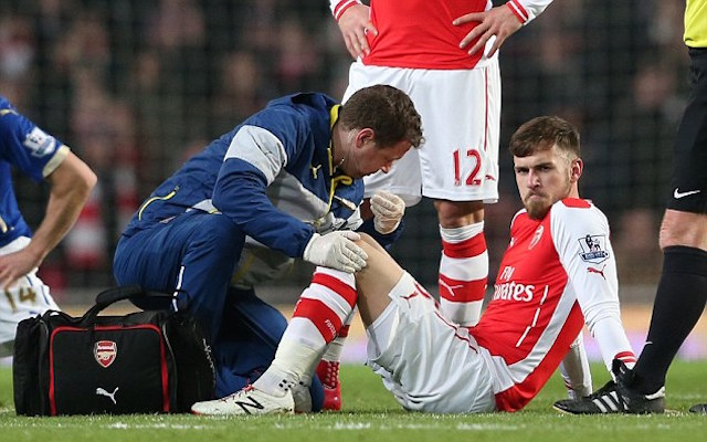 Arsenal rocked: Aaron Ramsey set to miss Champions League tie