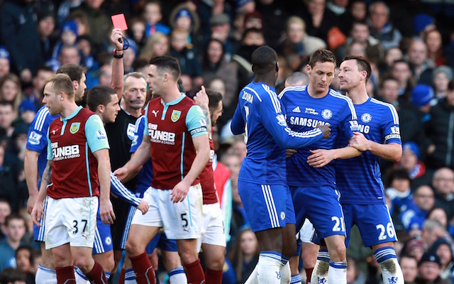 Nemanja Matic Sent Off As Chelsea Lose Ground In Premier League Title Race