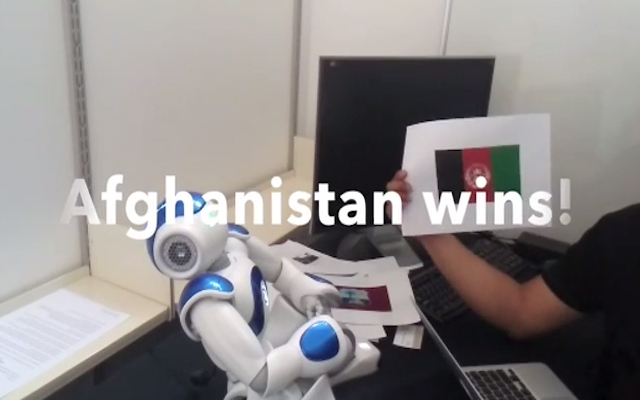 (Video) Malfunction? Robot predicts Afghanistan to win 2015 Cricket World Cup