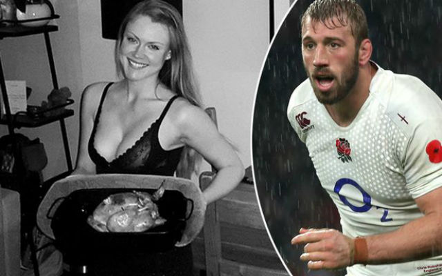 (Image) Chris Robshaw's girlfriend promises England skipper a 'naughty dinner' ahead of Six Nations kick off