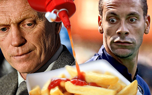 David Moyes tells Rio Ferdinand Manchester United players were too overweight to have chips!