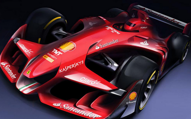 (Images) Scuderia Ferrari release stunning F1 car of the future concept